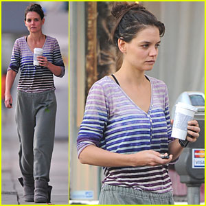 Katie Holmes Shows Her Stripes