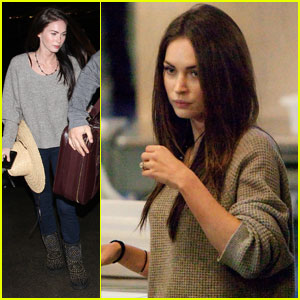 Megan Fox Jets Out of LAX with Brian Austin Green
