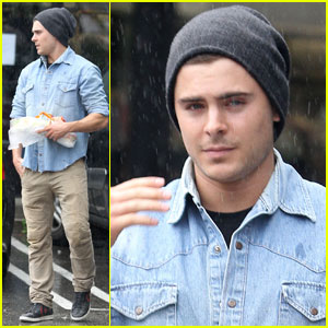 Zac Efron Makes A Sandwich Stop