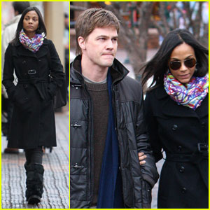 Zoe Saldana: Aspen with Keith Britton!