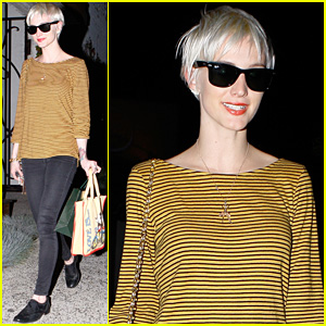 Ashlee Simpson: New Bleached Blond Hair!
