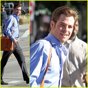 Chris Pine Welcomes 'People' to Downtown L.A.