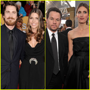 Christian Bale & Mark Wahlberg - SAG Awards 2011 Red Carpet