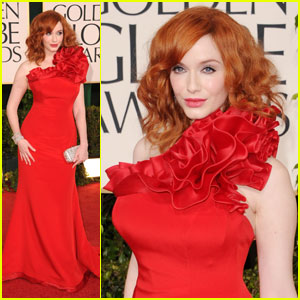 Christina Hendricks - Golden Globes 2011 Red Carpet