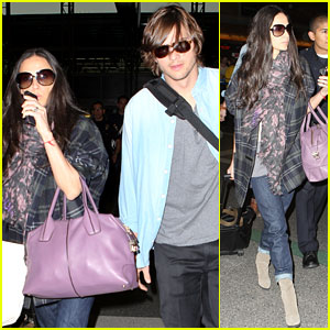 Demi Moore &#038; Ashton Kutcher: En Route to Brazil!