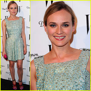 Diane Kruger: 'W' Magazine Golden Globe Party!