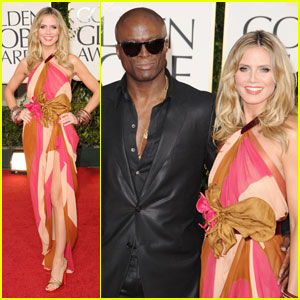 Heidi Klum & Seal - Golden Globes 2011 Red Carpet