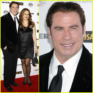 John Travolta: G'Day Gala with Kelly Preston!