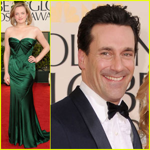 Jon Hamm & Elisabeth Moss - Golden Globes 2011 Red Carpet