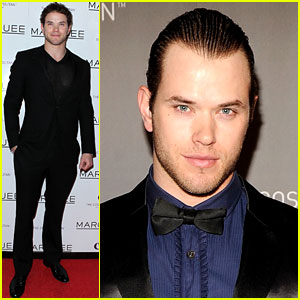 Kellan Lutz Makes It A Marquee Night -- With Slicked Back Hair