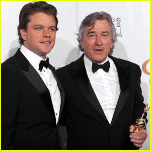 Matt Damon & Robert De Niro - Golden Globes 2011