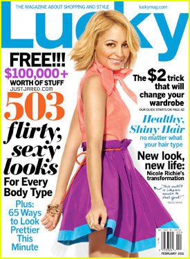 Nicole Richie Covers 'Lucky' February 2011