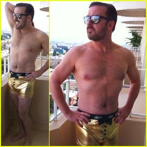 Ricky Gervais: Gold Underwear Model!