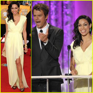 Rosario Dawson &#038; Josh Duhamel - SAG Awards 2011 Red Carpet