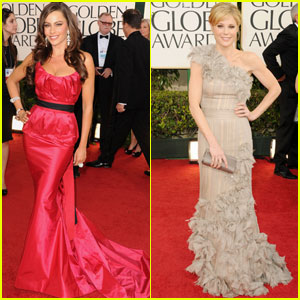Sofia Vergara & Julie Bowen - Golden Globes 2011 Red Carpet