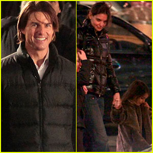 Tom Cruise: Set Visit from Katie Holmes &#038; Suri!