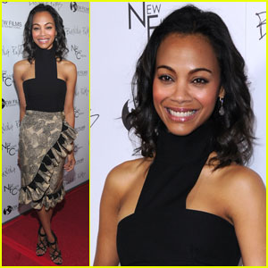 Zoe Saldana: 'Burning Palms' Premiere!