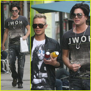 Adam Lambert: Strolling with Sauli Koskinen!