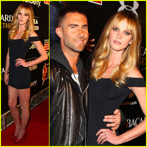 Adam Levine: BEP Super Bowl Party with Anne Vyalitsyna!