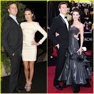 Armie Hammer & Elizabeth Chambers - Oscars 2011 Red Carpet