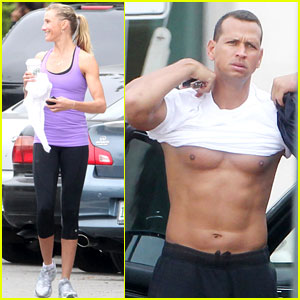 Cameron Diaz & Alex Rodriguez: Workout Lovers!