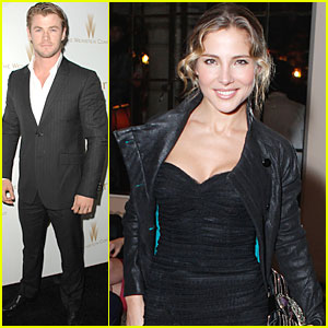 Chris Hemsworth: Dior Dinner with Elsa Pataky!