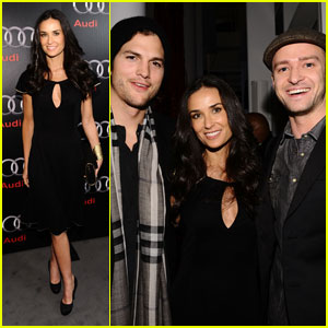 Demi Moore: Audi Party with Ashton Kutcher!