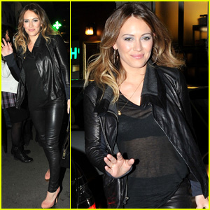 Hilary Duff Sheer Looks Black