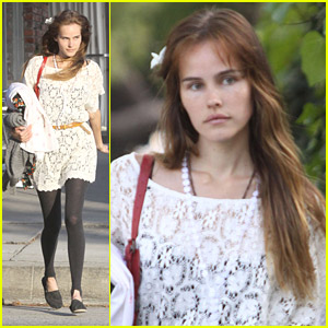 Isabel Lucas Does Her Dry Cleaning