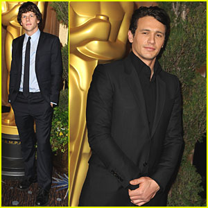 James Franco & Jesse Eisenberg: Oscar Nominations Luncheon