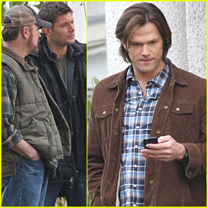 Jared Padalecki & Jensen Ackles: 'Supernatural' Shoot