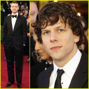 Jesse Eisenberg & Justin Timberlake - Oscars 2011 Red Carpet