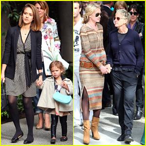Jessica Alba & Ellen DeGeneres: Pre-Oscar Party in Beverly Hills!