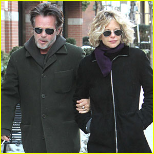 Meg Ryan and John Mellencamp link arms as they step out together on
