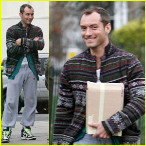 Jude Law: Primrose Hill Hugger