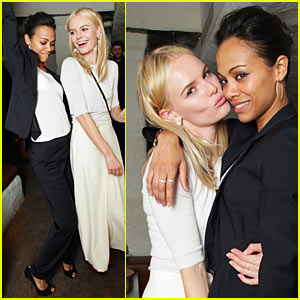 Kate Bosworth & Zoe Saldana: Kenmare Kiss