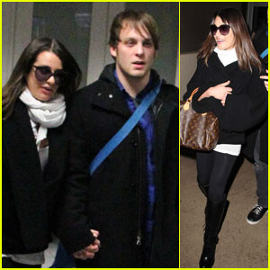 Lea Michele: Super Bowl Weekend with Theo Stockman!