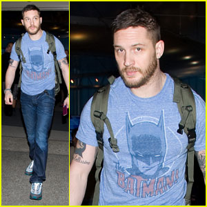 Tom Hardy: Batman Flies Into LAX