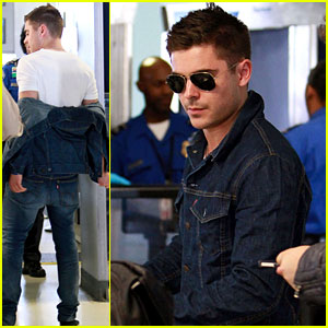 Zac Efron: LAX Liftoff!