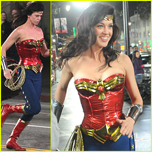 Adrianne Palicki: Wonder Woman on Hollywood Boulevard!