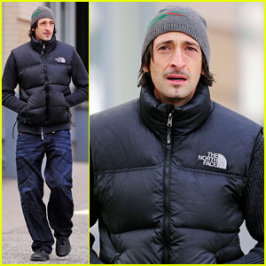 Adrien Brody: Chilly Soho Stroll