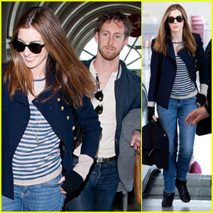 Anne Hathaway Leaves L.A. With Adam Shulman