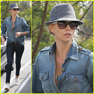 Charlize Theron Spends Saturday at the Spa