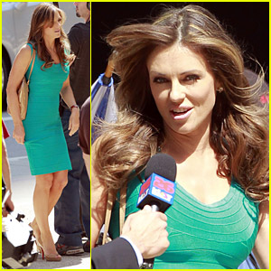 Elizabeth Hurley Films 'Wonder Woman'