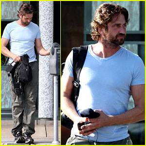 Gerard Butler Feeds the Meter