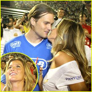 Gisele Bundchen & Tom Brady: Carnival Kiss!