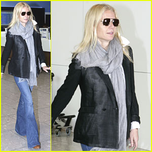 Gwyneth Paltrow: Bell Bottoms at Heathrow Airport!