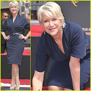Helen Mirren: Hand & Footprint Ceremony!