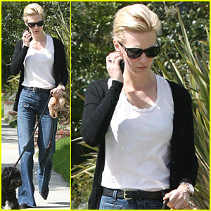 January Jones: Dog Walking in L.A.