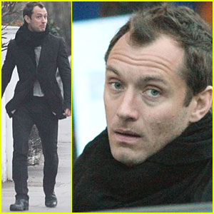 Jude Law: School Run in London